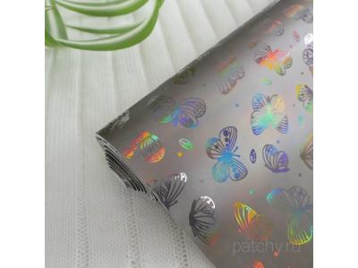 Видео кожзам для рукоделия Блестящие бабочки