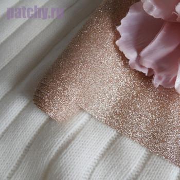 Глиттерная ткань розовое золото