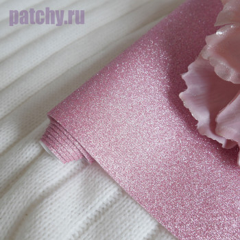 Глиттерная ткань розовая