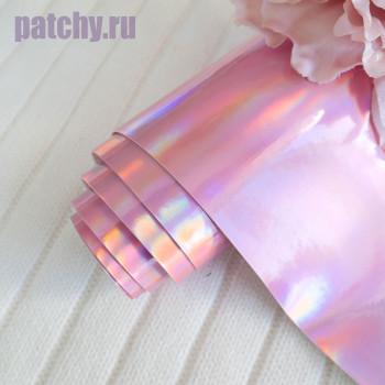 Кожзам ртутный розовый