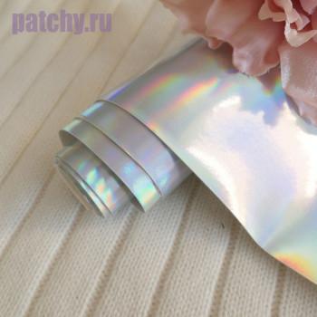 Кожзам ртутный серебро