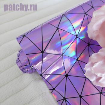 Кожзам геометрия фиолет