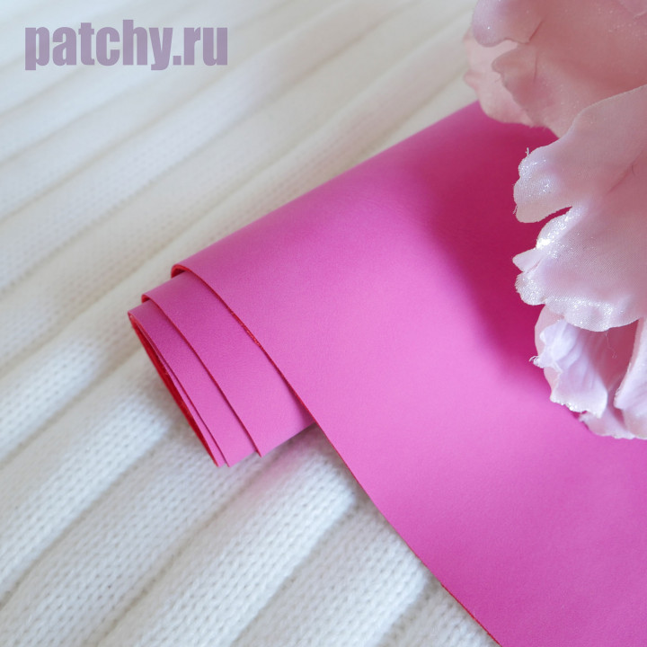 Кожзам Soft touch фуксия