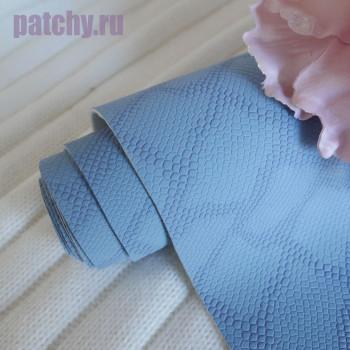 Кожзам голубой чешуя soft touch