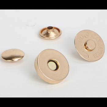 Магнитная кнопка 14 мм розовое золото