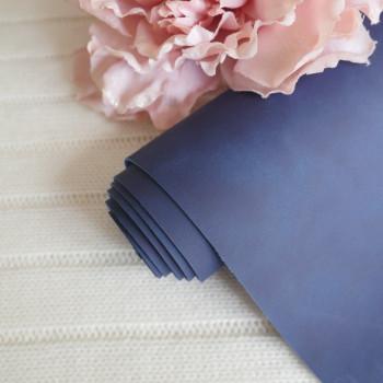 Кожзам Soft touch темно-синий