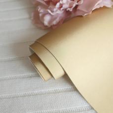 Кожзам матовый шелк золотой 30 х 70 см