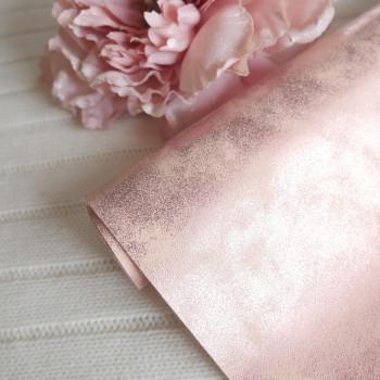 Кожзам морозный узор розовый