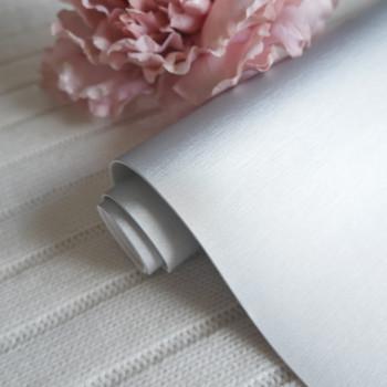Кожзам матовый шелк серебро