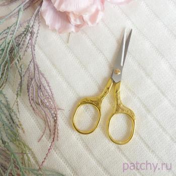 Ножницы для рукоделия 12,5 см золото