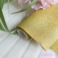 Глиттерная ткань золото