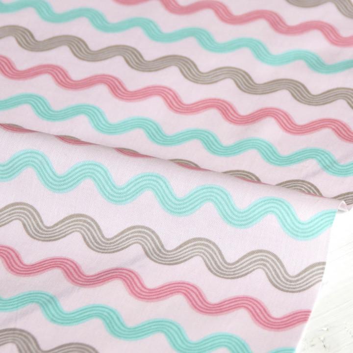 Ткань для пэчворка и ксрапбукинга хлопок Little bird zigzag