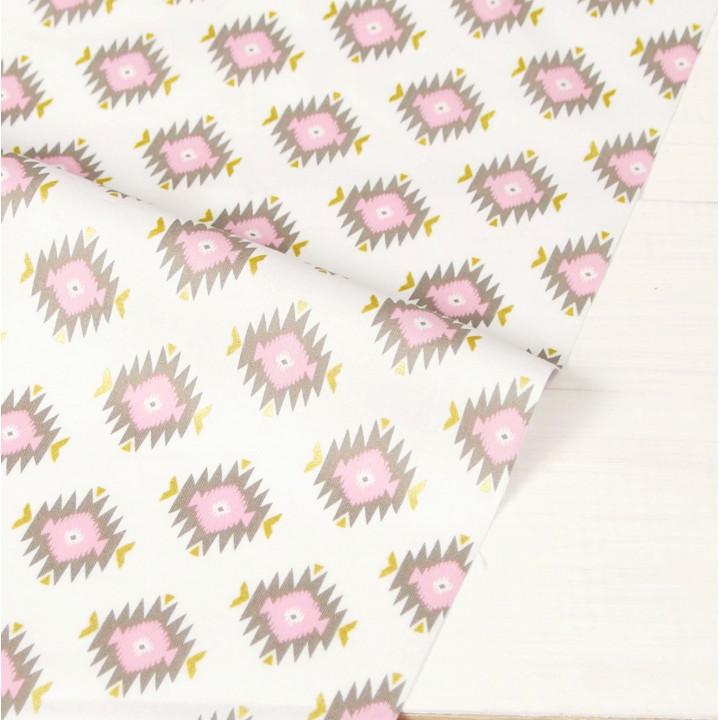 Ткань для пэчворка и скрапбукинга хлопок Glitz Garden: Glitzy Diamond Pink
