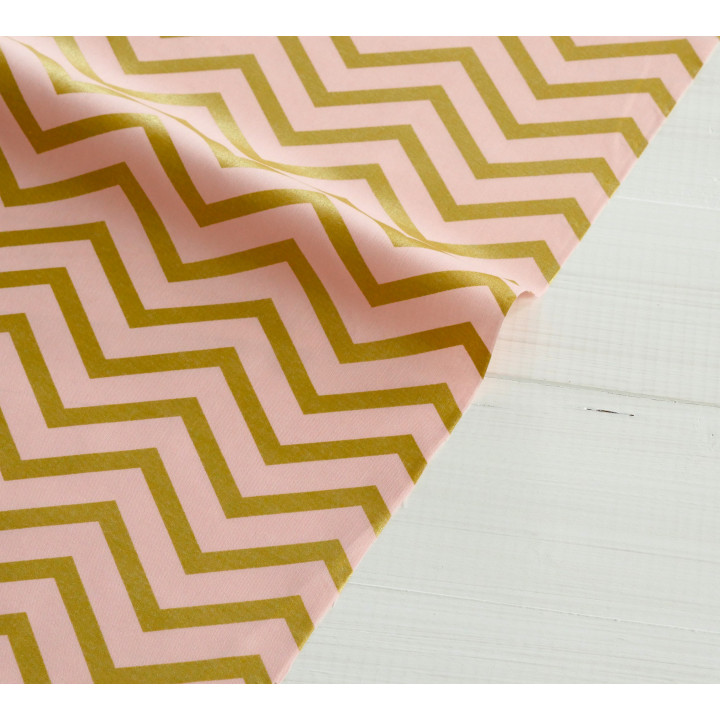 Ткань для пэчворка и скрапбукинга хлопок Blush Sleek Chevron Pearlized