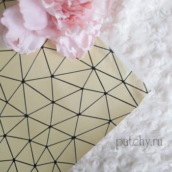 Кожзам геометрия светло-золотой