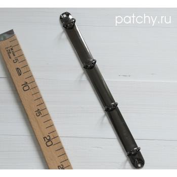 Кольцевой механизм 29см 4 кольца A4 черное серебро