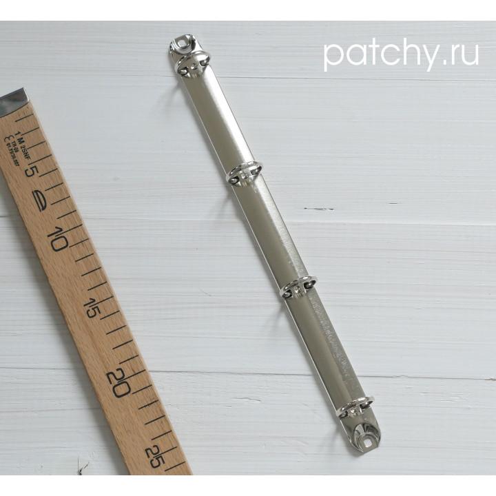 (Без болтов) Кольцевой механизм 29см 4 кольца A4 серебро