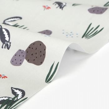 Ткань хлопок 494 Skunk  skunk (C20)