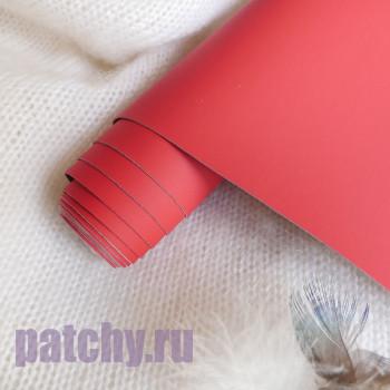 Переплетный кожзам красный (Китай)