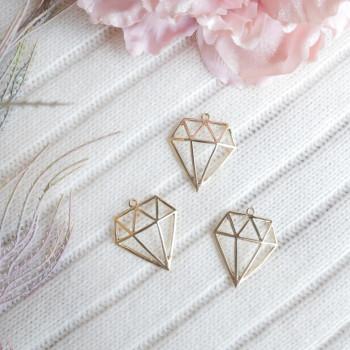Подвеска алмаз (грани) золото