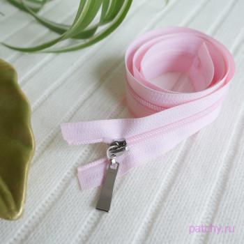 Спиральная молния 67 см нежно розовая