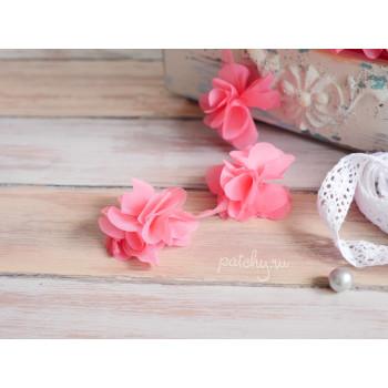 Шифоновый цветочек (фуксия)