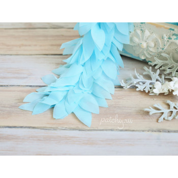 Шифоновые лепестки (голубой)